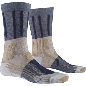X-Socks Trek Path Calcetines Mujer, gris/azul